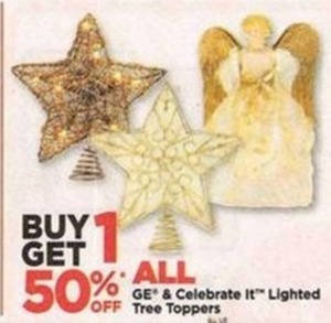 All GE & Celebrate It Lighted Tree Toppers
