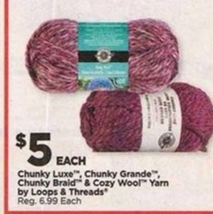 Loops & Threads Chunky Luxe, Chunky Grande, Chunky Braid & Cozy Wool Yarn