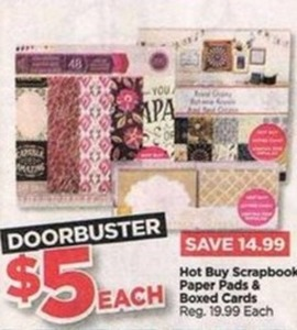 Scrapbook Paper Pads and Boxed Cards