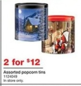 2 Assorted Popcorn Tins In-Store Only