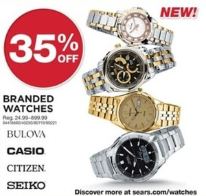 All Bulova, Casio, Citizen, Seiko Watches