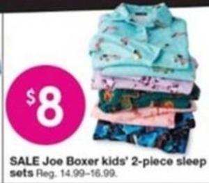 Joe Boxer Kids 2pc Sleep Sets
