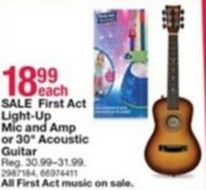 First Act Light-Up Mic and Acoustic Guitar