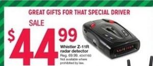 Whistler Z-11R Radar Detector