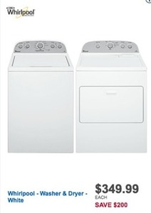 Whirlpool Washer and Dryer - White