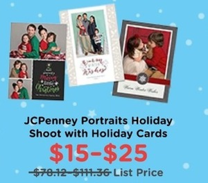 JCPenney Portraits Holiday Shoot w/ Holiday Cards