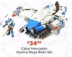 Cabal Interceptor Destiny Mega Bloks Set
