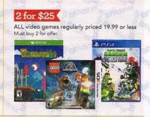 All Video Games Priced $19.99 or Less