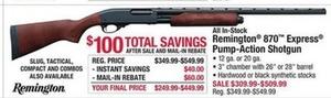 Remington 870 Express Pump-Action Shotgun - After Rebate