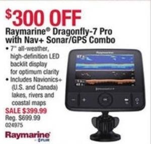Raymarine Dragonfly-7 Pro with Nav+ Sonar/GPS Combo
