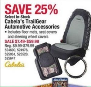 Cabela's TrailGear Automotive Accessories