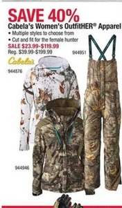 Cabela's Women' OutfitHER Apparel