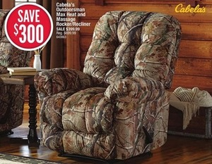 Cabela's Outdoorsman Max Heat and Massage Rocker/Recliner