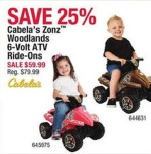 Cabela's Zone Woodlands ATV Ride-Ons