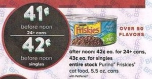 Entire Stock Purina Friskies Cat Food