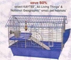 KAYTEE, All Living & National Geographic Small Pet Habitats