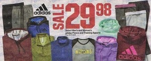 Select Women's Adidas Fleece or Training Apparel