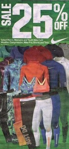 Select Men's, Women's and Youth Nike Cold Weather Compression, Nike Pro Shorts and Tees