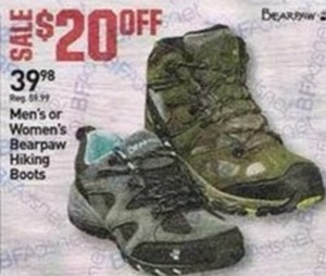 Men's and Women's Bearpaw Hiking Boots