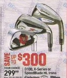 D100, XSeries or SpeedBlade HL Irons