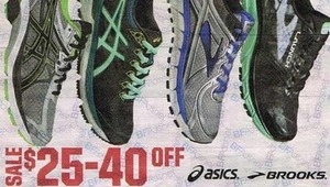 All Asics and Brooks Shoes