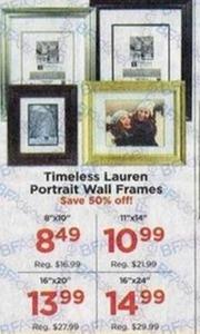 Timeless Lauren Portrait Wall Frames