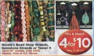 Nicole's Bead Shop Strands, Gemstone Strands or Tassel It