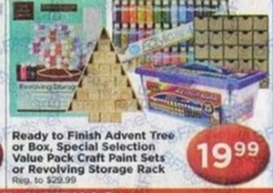 Ready to Finish Advent Tree/Box, Value Pack Craft Paint Set or Revolving Storage Rack