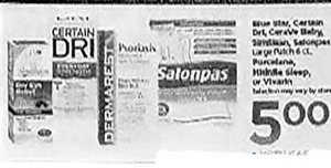 Certain Dri, Dermarest, Salonpas Patches
