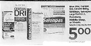 Certain Dri, Dermarest, Salonpas Patches