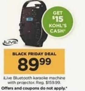 iLive Bluetooth Karaoke Machine + $15 Kohl's Cash