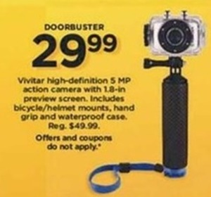 Vivitar High Definition 5 MP Camera + $15 Kohl's Cas