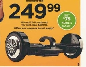 Hboard 2.0 Hoverboard + $75 Kohl's Cash