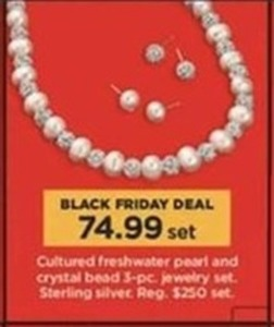Cultured Freshwater Pearl & Crystal Bead 3-pc Set