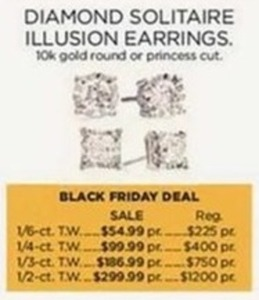 Diamond Solitaire Illusion Earrings 1/6-ct. T.W.