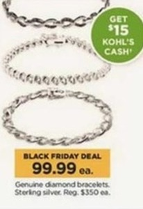 Genuine Diamond Bracelets + $15 Kohl's Cash