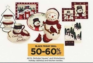 All St. Nicholas Square and Winterberry Holiday Tabletop and Kitchen Textiles