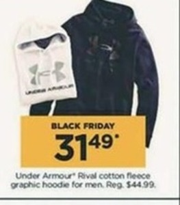 Under Armour Rival Cotton Fleece Graphic Hoodie for Men