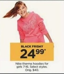 Girls Nike Therma Hoodies