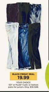 Mudd Juniors' 5-Pocket or Fashion Jeans