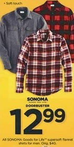 All Sonoma Goods For Life Super-Soft Flannel Shirts