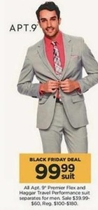 Men's Apt. 9 Premier Flex and Haggar Travel Performance Suits
