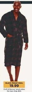 Men's Croft & Barrow Plush Robes