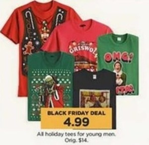 Young Men's Holiday Tees