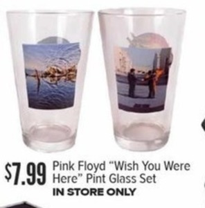 "Pink Floyd ""Wish You Were Here"" Pint Glass Set"