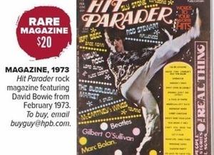 Rare Hit Parader Rock Magazine 1973