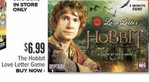The Hobbit Love Letter Game