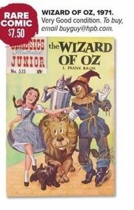 Rare Comic The Wizard of Oz