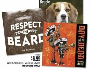 Wall Calendars Various Styles (In Store Only)