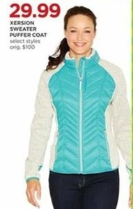 Xersion Sweater Puffer Coat